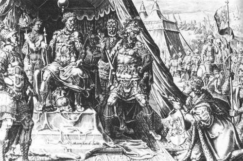 Wilhelm V. von Jülich-Cleve-Berg fällt 1543 in Venlo Kaiser Karl V. auf die Knie
